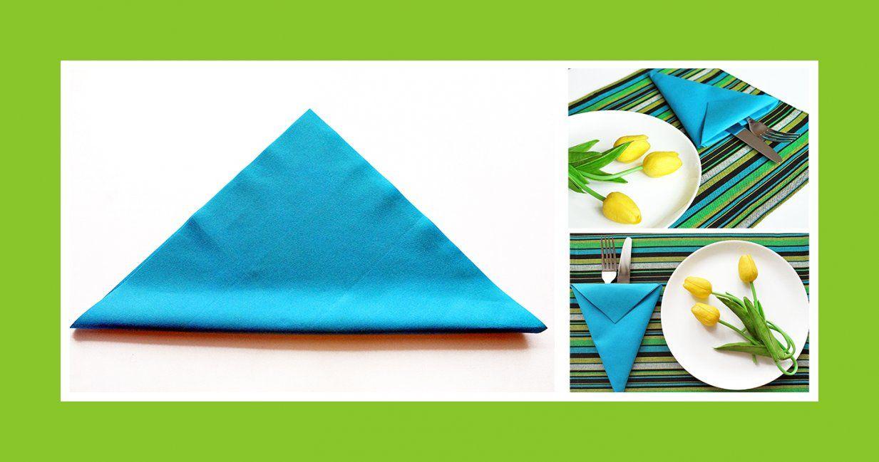 Servietten Falten Blaue Bestecktasche von Bestecktaschen Aus Servietten Falten Bild