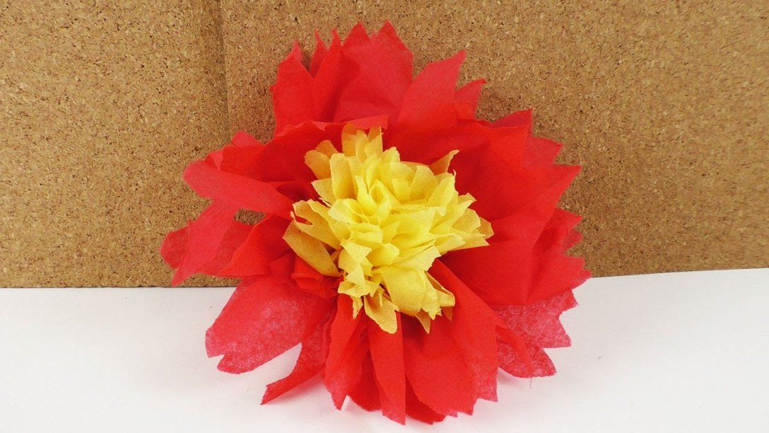 Servietten Falten  Gefüllte Servietten Blume 2 Farbig  Party von Servietten Falten Blume Anleitung Photo