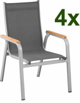 Sessel Von Kettler Günstig Online Kaufen Bei Möbel & Garten von Kettler Stapelsessel Gallien Silber Anthrazit Bild