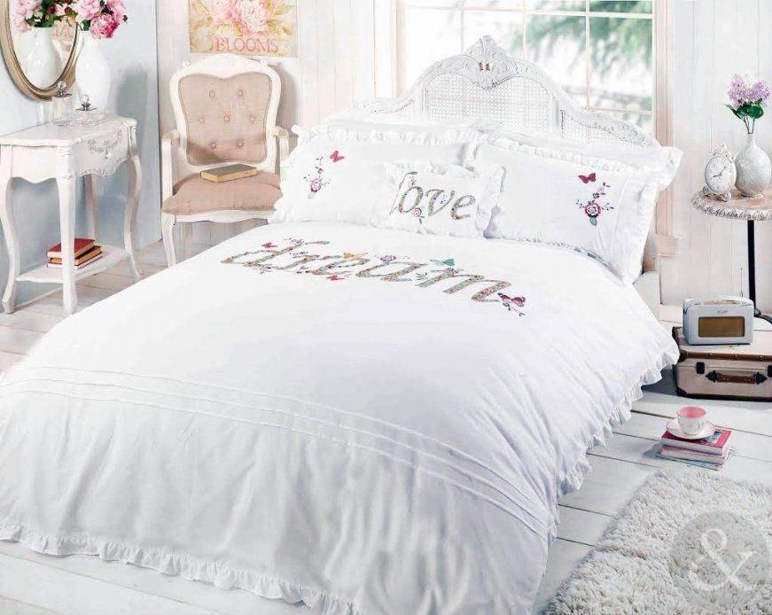 Shabby Chic Bettbezug Luxuriöse Bettwäsche Applikation Bestickt von Shabby Chic Bettwäsche Photo