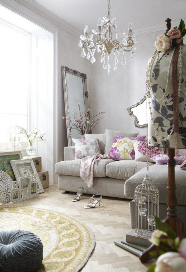 Shabby Chic Im Wohnzimmer – 55 Möbel Und Deko Ideen Innen Teppich von Deko Ideen Shabby Chic Photo
