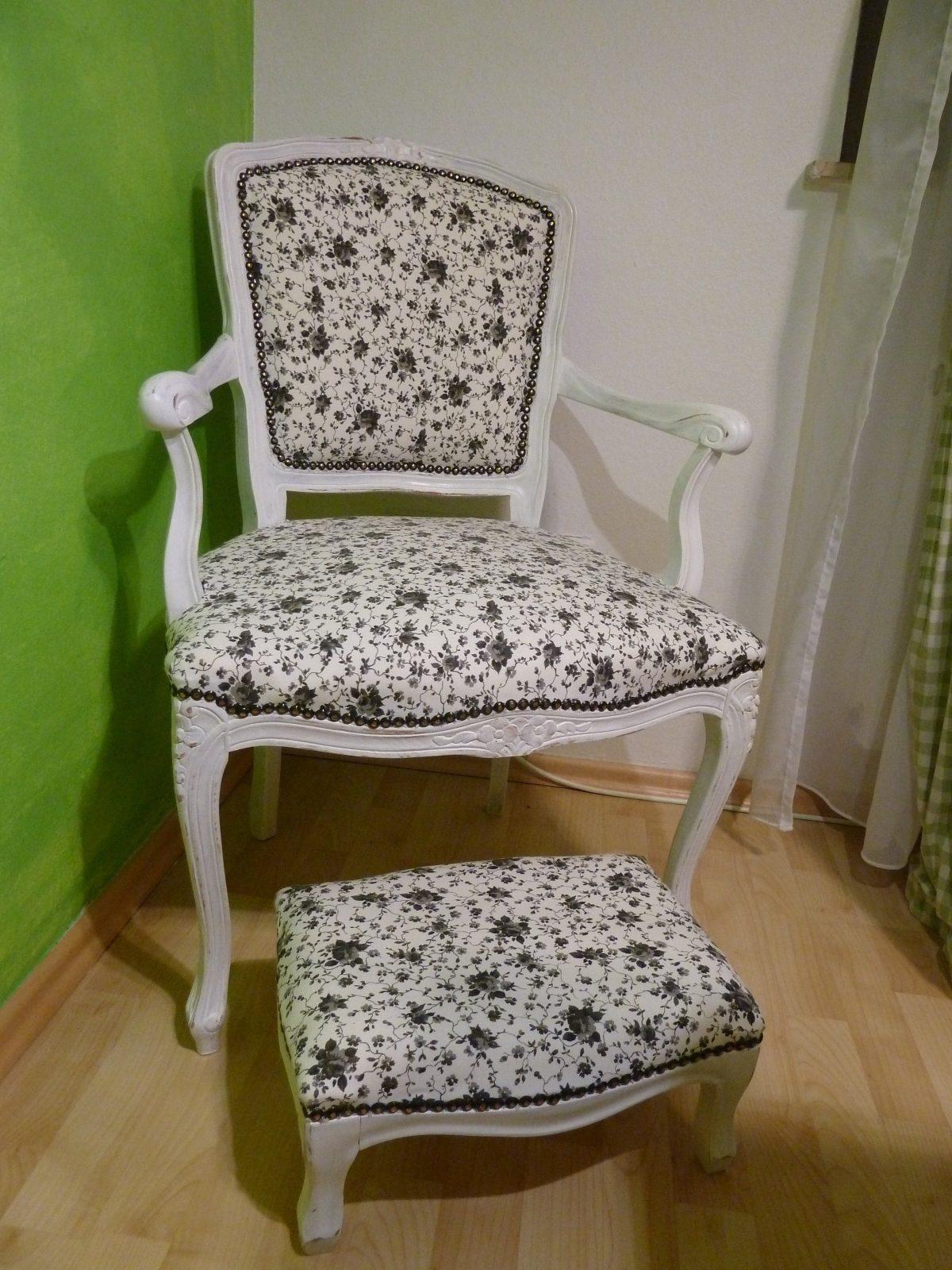 Shabby Chic Stuhl Und Schemel – Nikalena von Stühle Shabby Chic Selber Machen Photo