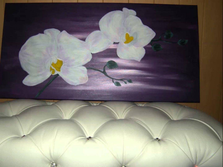 Sibelles Art&design Orchideen Auf Leinwand (Acryl)  Youtube von Orchideen Bilder Auf Leinwand Photo