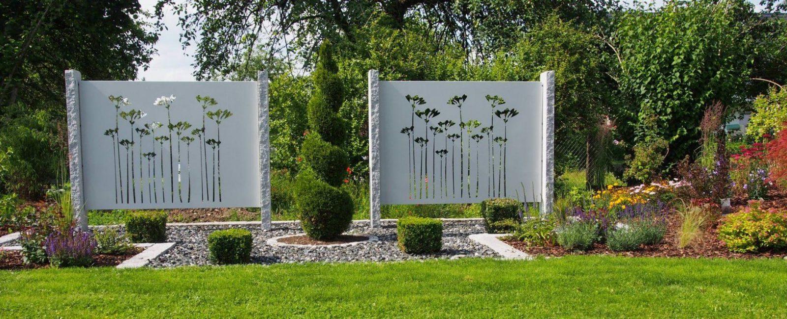 Sichtschutz Aus Metall Ganz Individuell  Tiko Metalldesign von Moderner Sichtschutz Für Garten Photo