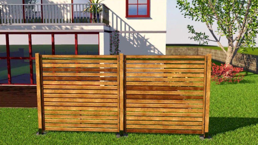 Sichtschutz Bauen Mit Holzelementenso Geht Das  Youtube von Sichtschutzzaun Selber Bauen Anleitung Bild