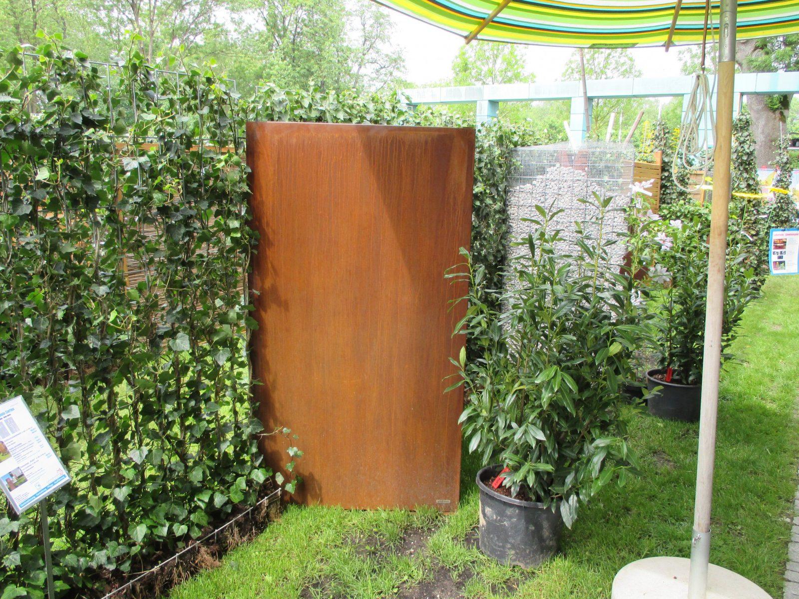 Sichtschutz Cortenstahl Vista 180 X 100 Ohne Motiv  Wwwgarten von Cortenstahl Sichtschutz Für Garten Bild