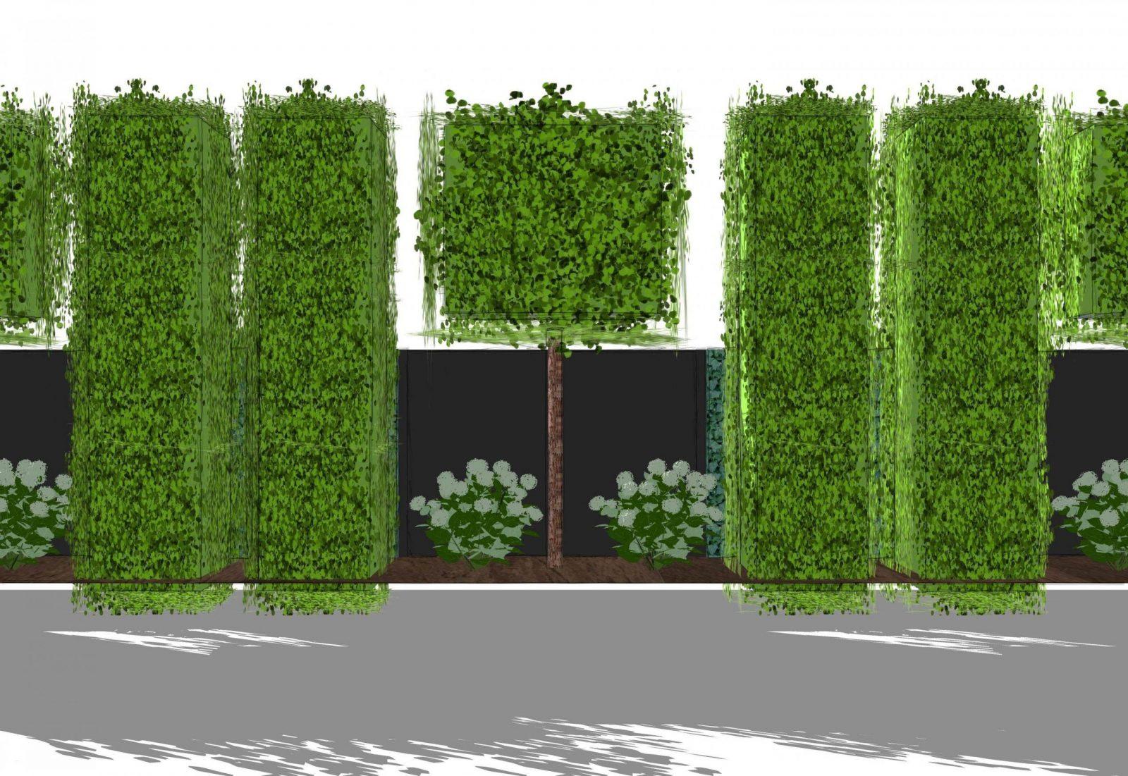 Sichtschutz Gestaltung Im Garten Schön Sichtschutz Hpl Hecke Am von Hecke Am Laufenden Meter Günstig Bild