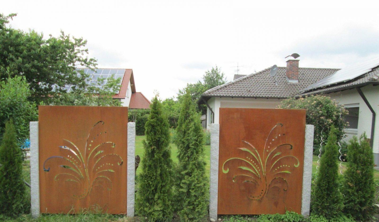 Sichtschutz Metall Rost In Garten Sichtschutz Blech Einzigartig von Sichtschutz Garten Metall Rost Bild