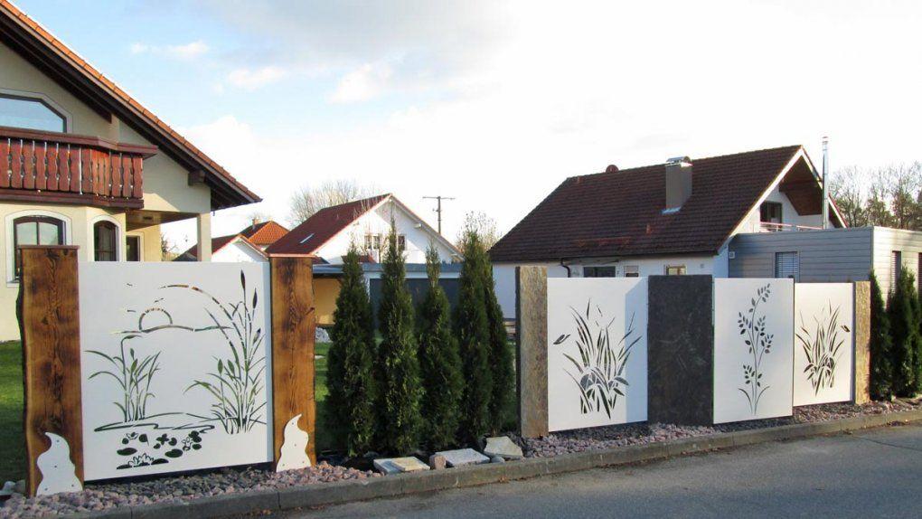 Sichtschutz Mit Motiv Ganz Individuell  Hier Vergleichen von Sichtschutz Garten Metall Rost Photo