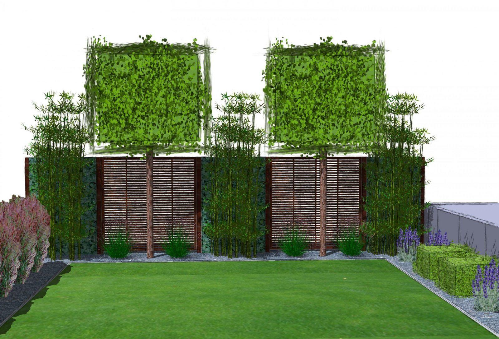 Sichtschutzkombinationen Teil 5  Spalierbäume Hecke Am Laufenden von Sichtschutz Efeu Am Laufenden Meter Bild