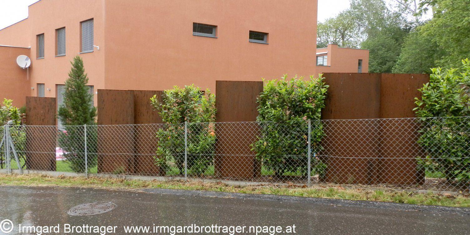 Sichtschutzwände Aus Cortenstahlpaneelen  Architektur Umwelt + von Cortenstahl Sichtschutz Für Garten Bild