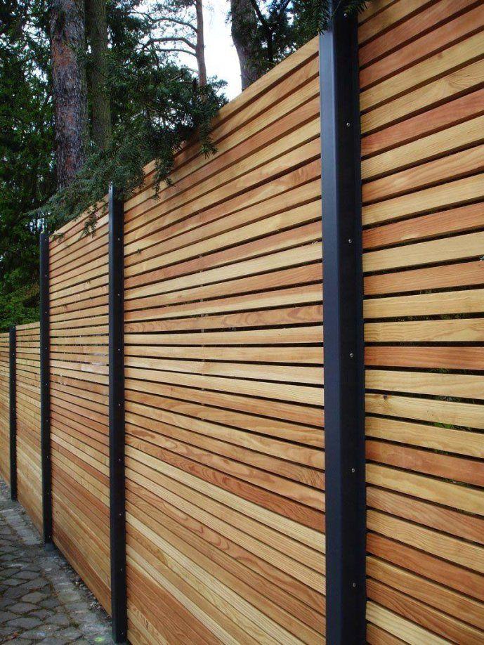 Sichtschutzzaunholzmetallgünstiglärchehöhegrauweißausholz von Sichtschutzzaun Holz Selber Bauen Photo