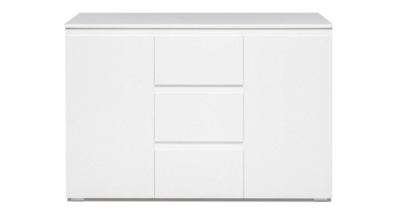 Sideboard Blanc 4 Grifflose Kommode In Weiß 120 Cm Breit von Kommode Weiß 120 Breit Photo