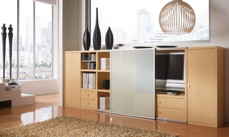 Sideboard Kommode Ahorn Mit Tvfach Und Schiebetür von Raumteiler Mit Tv Fach Bild