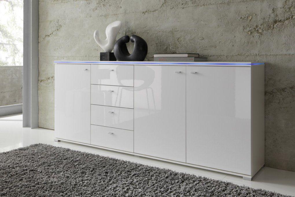 Sideboard New York Anrichte In Weiß Fronten Hochglanz Optional Led von Sideboard Weiß Hochglanz 200 Cm Photo