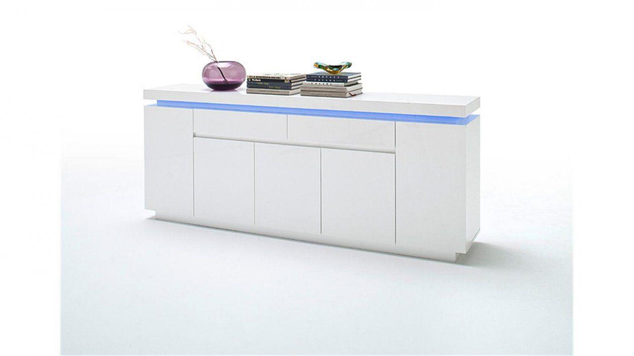 Sideboard Ocean Weiß Hochglanz Inkl Rgbbeleuchtung 200 Cm von Sideboard Weiß Hochglanz 200 Cm Photo