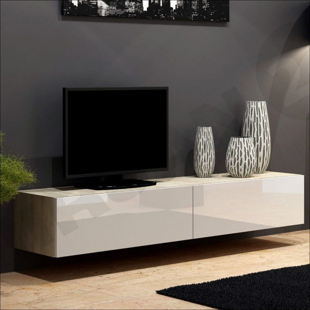 cool tv lowboard wei hochglanz h ngend 30 30 30 hausumbau von lowboard h ngend wei hochglanz. Black Bedroom Furniture Sets. Home Design Ideas