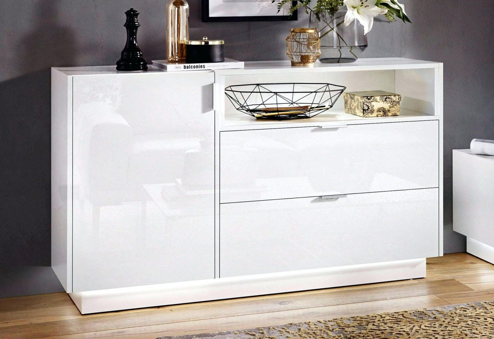 otto sideboard hochglanz weiss haus design ideen. Black Bedroom Furniture Sets. Home Design Ideas