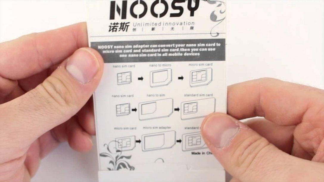 Simkaart Adapter Set Micro En Nano Sim Productvideo  Youtube von Nano Sim Auf Micro Sim Adapter Selber Bauen Bild