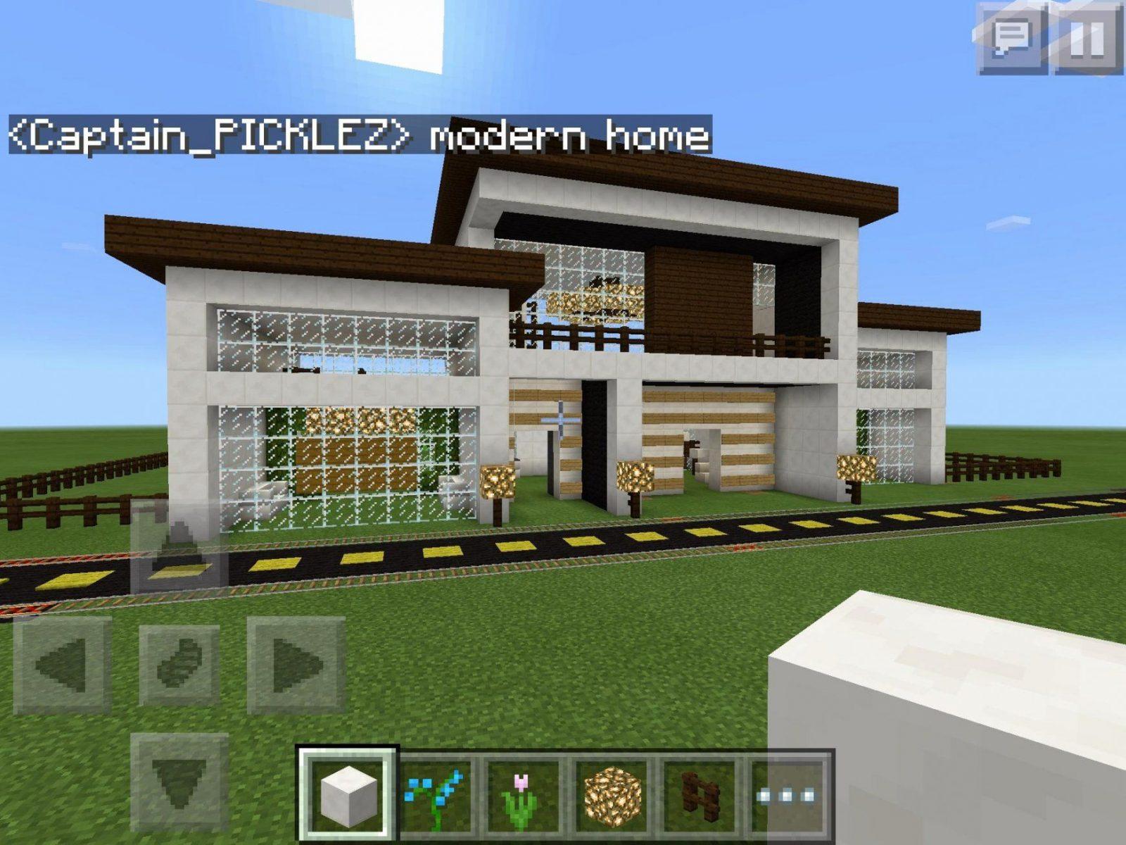 Simple Modern House Designs Minecraft Inspirational Philippine House von Minecraft Modern Mansion Blueprints Bild