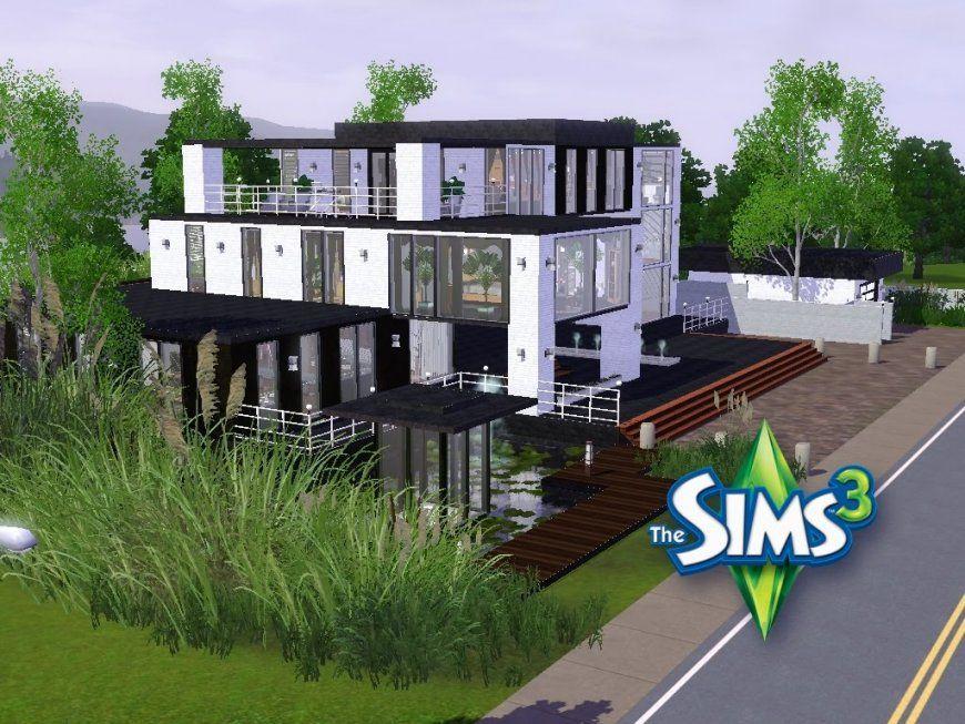 Sims 3  Haus Bauen  Let's Build  Großes Modernes Haus Mit von Sims 3 Haus Bauen Schritt Für Schritt Bild