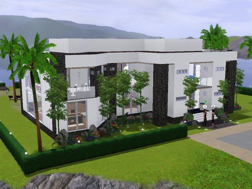 Sims 3  Haus Bauen  Let's Build  Helles Modernes Haus Für Ein von Sims Häuser Zum Nachbauen Bild