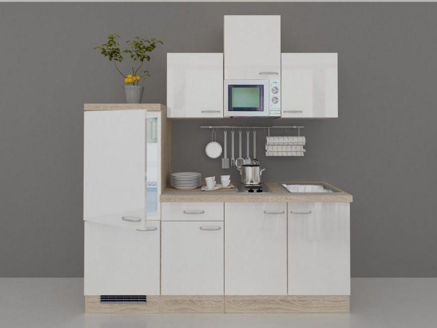 Single k che 210 cm hochglanz weiss mit mikrowelle for Single kuchenzeile mit elektrogeraten