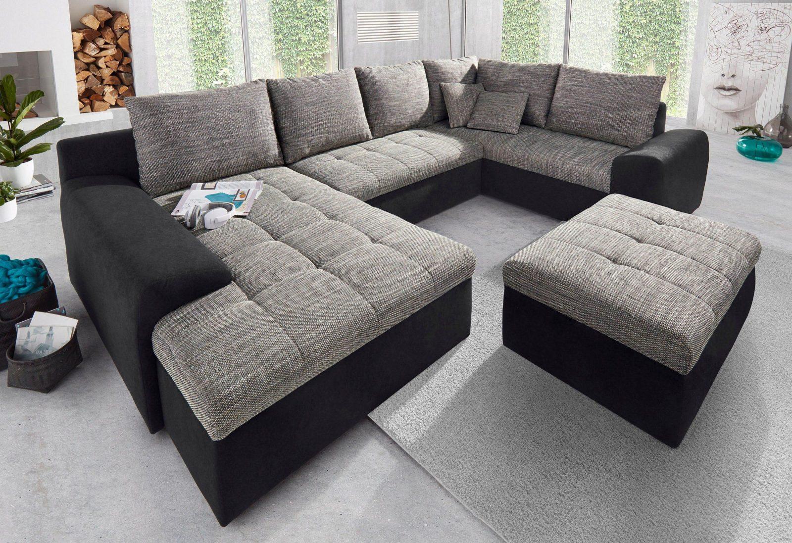 sit more wohnlandschaft mit ottomane und bettfunktion kaufen baur von sit and more. Black Bedroom Furniture Sets. Home Design Ideas