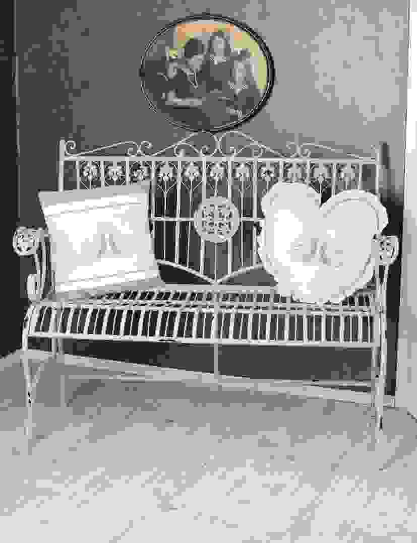 Sitzbank Shabby Chic Bank Weiss Gartenbank Vintage Ist Frisch Design von Sitzbank Shabby Chic Weiß Photo