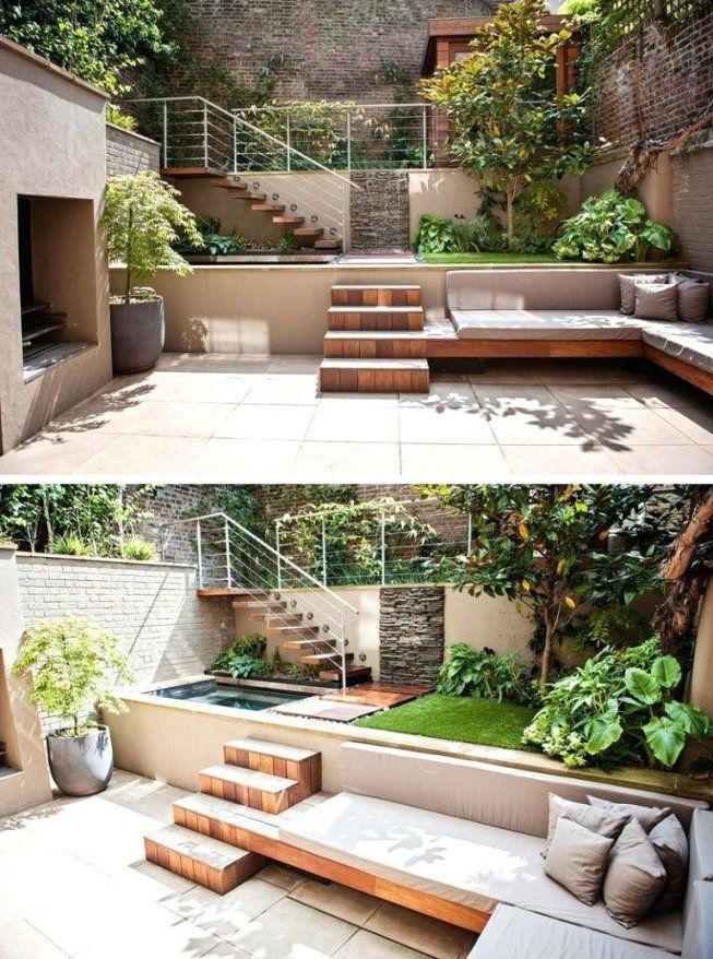 Sitzecke Garten Holz Terrassengestaltung Ideen Gestalten Ebenen Von