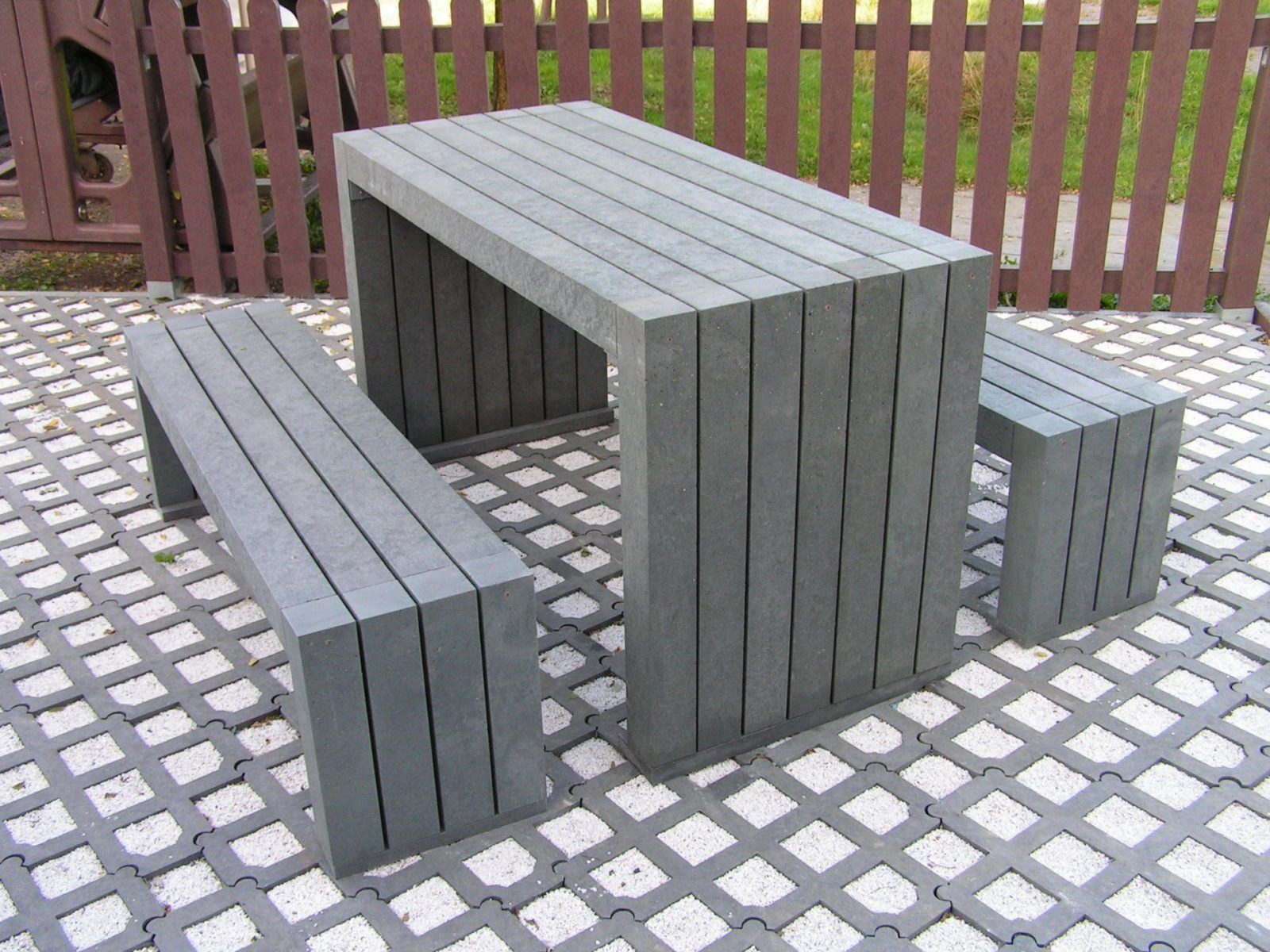 Sitzgruppe Friko von Bank Tisch Kombination Holz Bild