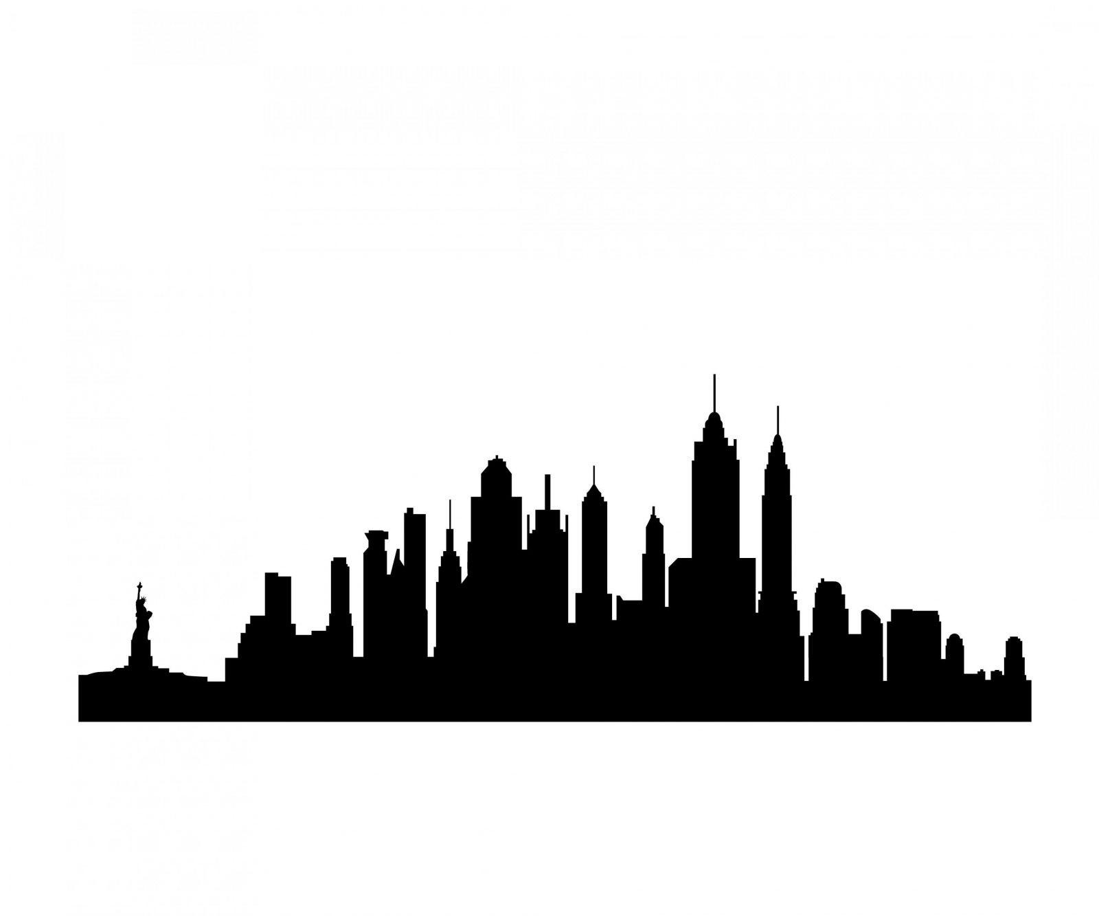 Skyline Silhouette  Clipart Best  Spiderman  Pinterest  Skyline von Skyline New York Wandtattoo Bild
