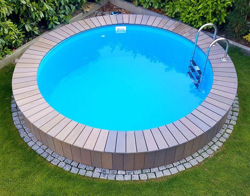 how to decorate around an above ground swimming pool swimming von runder pool im garten bild. Black Bedroom Furniture Sets. Home Design Ideas