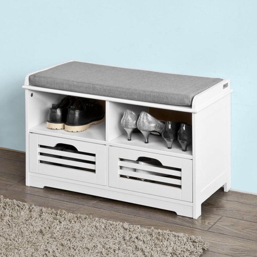 Sobuy® Schuhtruhe Sitzbank Mit 2 Körben Und  Real von Sitzbank Weiß Mit Stauraum Bild