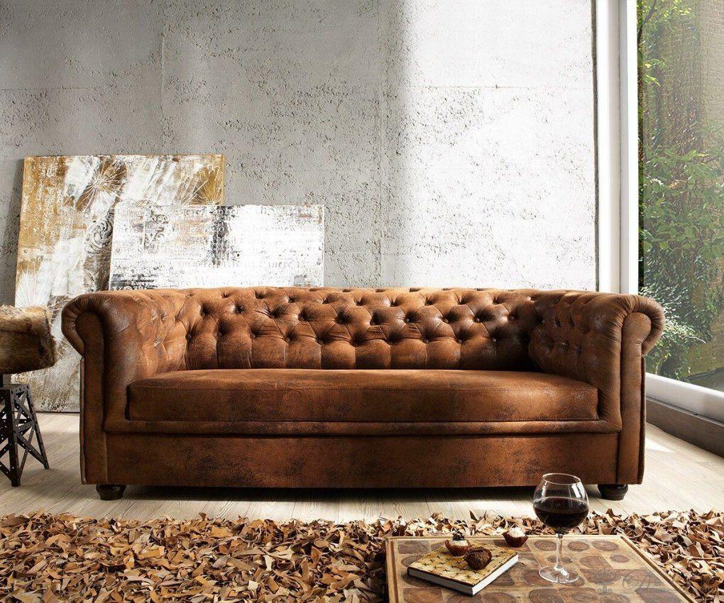 Sofa Chesterfield 200X92 Braun Antik Optik 3Sitzer Couch von Chesterfield Sofa Günstig Kaufen Bild