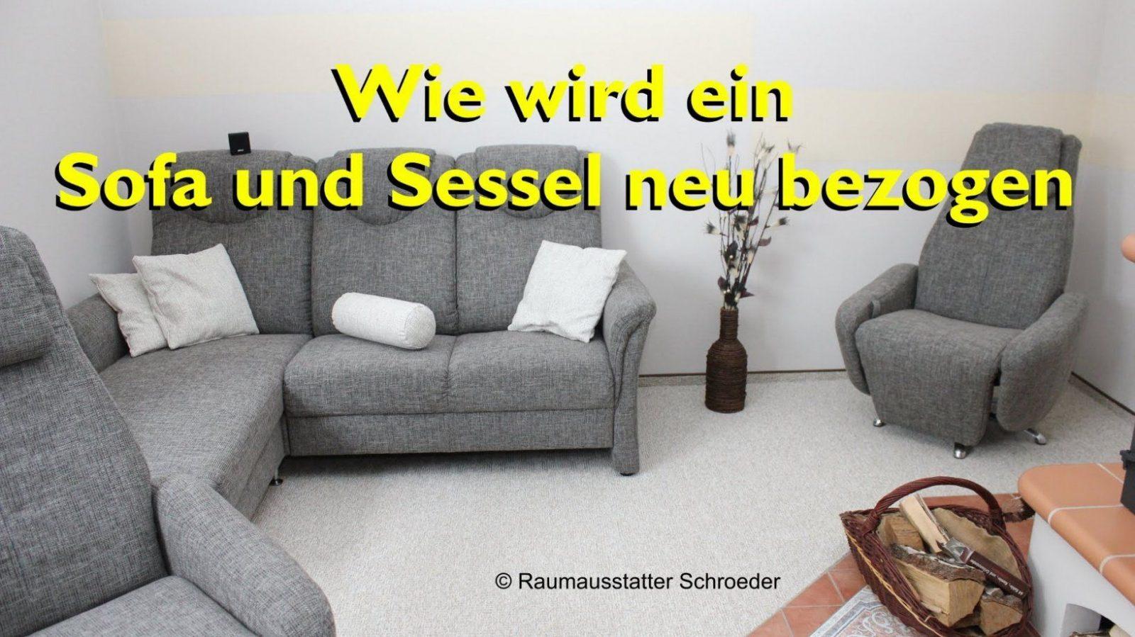 Sofa Und Sessel Neu Beziehen  Polstern  Couch Reupholstery Time von Polster Neu Beziehen Anleitungen Bild