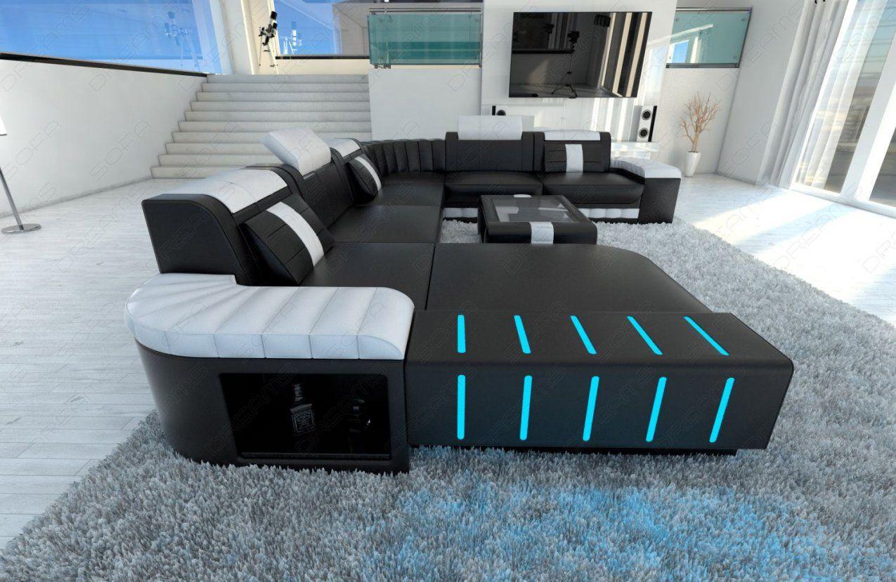 Sofagarnitur Wohnlandschaft Couch Bellagio Xxl Mit Led Beleuchtung von Couch Mit Led Beleuchtung Bild