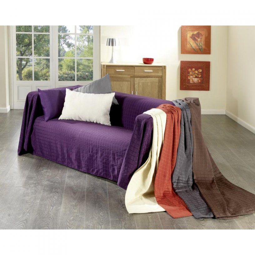 Sofaüberwurf Karo (250X380 Braun)  Dänisches Bettenlager von Couch Hussen Dänisches Bettenlager Photo