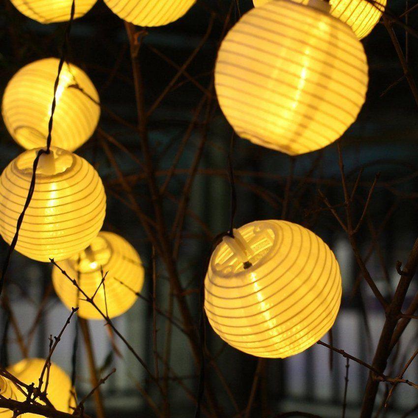 Solar Lichterkette Mit Lampions  Back Yard  Pinterest  Solar von Solar Lampions Für Den Garten Photo