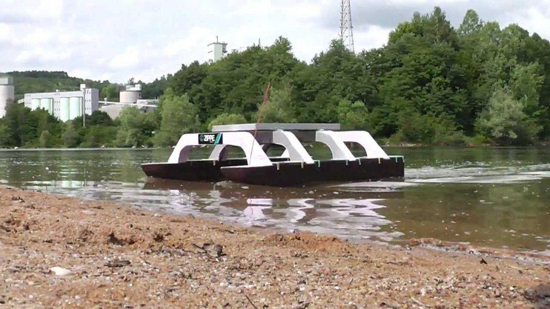 Solarbetriebener Katamaran Modellbau (Eigenbau)  Youtube von Ponton Hausboot Selber Bauen Photo