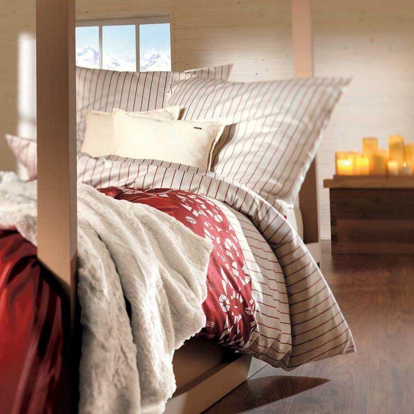 Soliver Landhaus Bettwäsche Satin Creme Mit Streifen Muster von Bettwäsche S. Oliver Bild