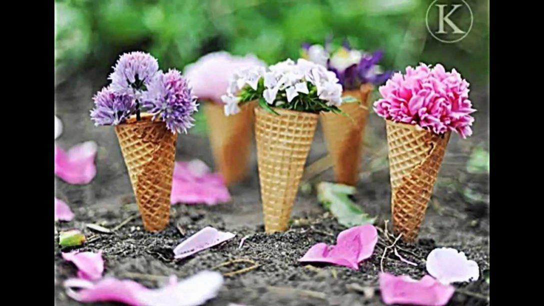 Sommerdeko Selber Machenbunte Idee Mit Papier Eistüten Für Die von Sommer Tischdeko Selber Machen Photo