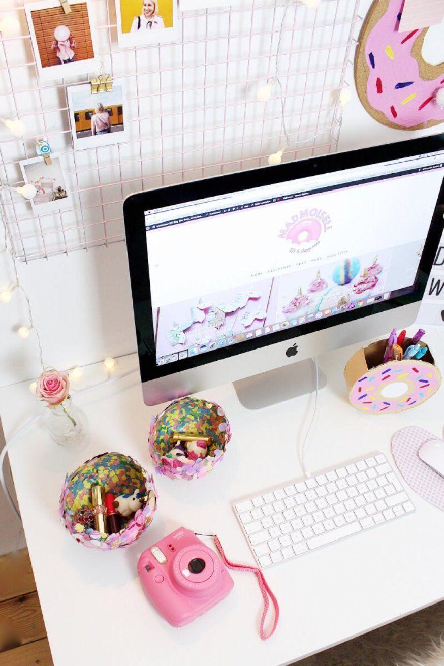 Spannende Schreibtisch Deko Diy Fotowand Selber Machen Schreibtisch von Schreibtisch Deko Selber Machen Bild