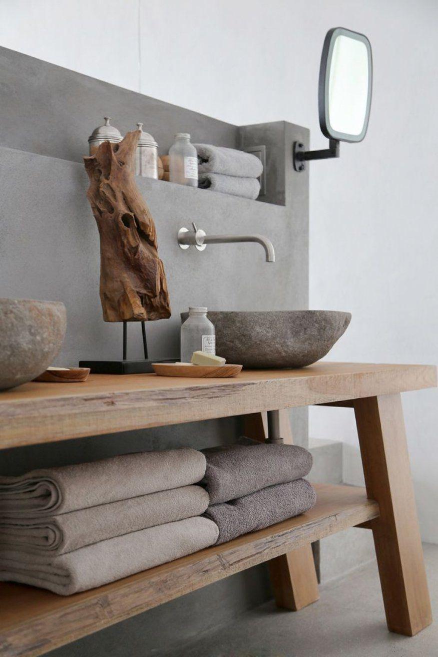 Spannende Waschtisch Für Aufsatzwaschbecken Aus Holz Sommer Auf von Waschtisch Holz Mit Aufsatzwaschbecken Bild
