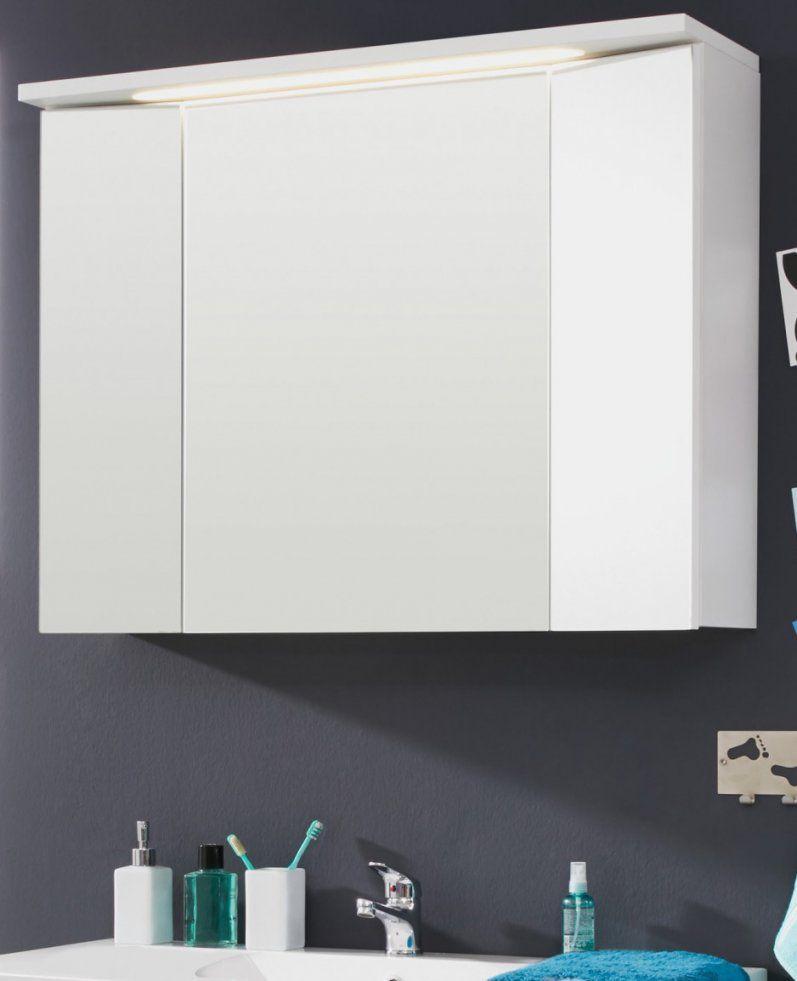 Spiegelschrank Mit Licht Luxus Badspiegelschrank 3Türig Mit von Bad Spiegelschrank Mit Beleuchtung Günstig Bild