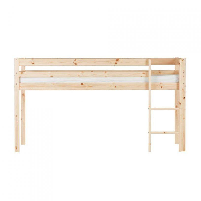 Spielbett Frieda (Natur Lackiert) Preiswert  Dänisches Bettenlager von Hochbett Mit Rutsche Dänisches Bettenlager Bild