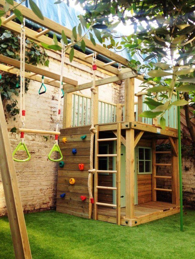 Spielhaus Für Den Garten Selber Bauen Diy Anleitung  Spielhaus von Spielgeräte Garten Selber Bauen Photo