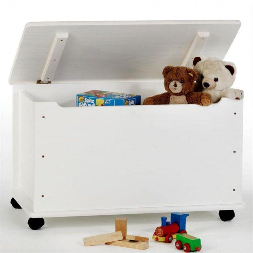 Spielzeugkiste Elisa In Weiß Lackiert Truhe  Real von Spielzeugkiste Holz Mit Deckel Bild
