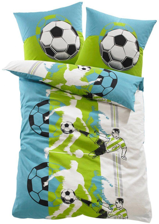 """Sportlich Einschlafen Mit Der Bettwäsche """"fußball"""" Ideal Fürs von Coole Bettwäsche Für Jungs Photo"""