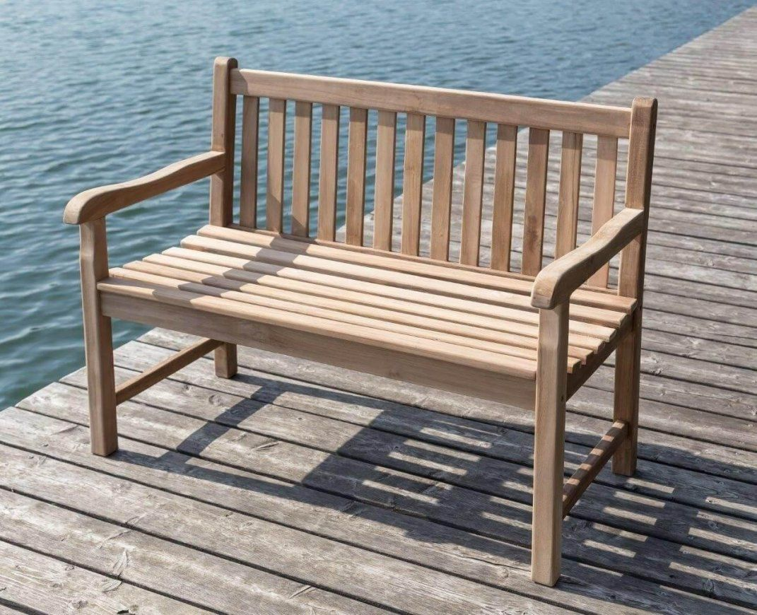 Stabile Bank Gartenbank Picadelly 120 Cm In Premium Teak Mit Armlehne von Gartenbank Holz 120 Cm Photo